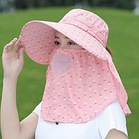 Mũ chống nắng nữ kèm khăn đội 2 mặt