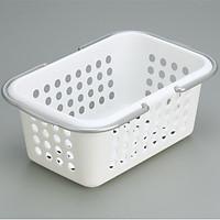 Bộ 3 giỏ đựng đồ tiện dụng cỡ nhỡ (màu trắng) - Hàng Nội Địa Nhật