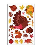 Window Sticker Maple Leaf Stickers for Autumn Thanksgiving Window Refrigerator Decoration