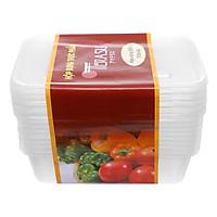 Hộp Nhựa Vuông Terasu 550ml (10 Bộ / Lốc)