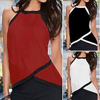 S-5XL ZANZEA Fashion Women Summer O Neck Sleeveless Irregular Hem Casual Slim Party Beach Vest Tank Club Tops Cami Shirt (Black)