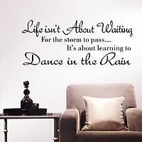 Decal dán tường Dance in the rain (25 x 58 cm)