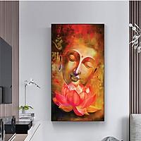Tranh CANVAS treo tường – Tranh Đức Phật  CA170 - Vải canvas kim tuyến cán PiMa - công nghệ in UV - Khung viền composite - bền màu 10 năm.