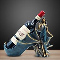 Giá để rượu vang cao cấp có họa hình thiếu nữ cầm ly rượu