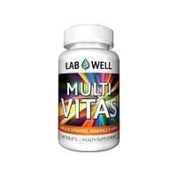 Thực phẩm chức năng Viên uống cung cấp vitamin khoáng chất và thảo mộc Multi Vitas Complete Vitamins Labwell 60 viên