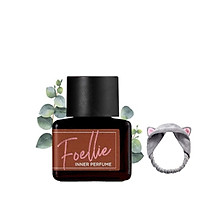 Nước Hoa Vùng Kín Foellie Eau De Foret Inner Perfume (Màu Nâu) -hương gỗ tươi mát, thanh lịch + Tặng Kèm 1 Băng Đô Tai Mèo (Màu Ngẫu Nhiên)