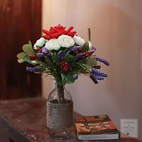 Bình Hoa Giả - Hoa Vải Cao Cấp- Hoa Để Bàn - Hoa Văn Phòng