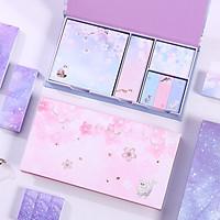 Hộp 6 tập giấy note màu hình hoa (giao màu ngẫu nhiên)
