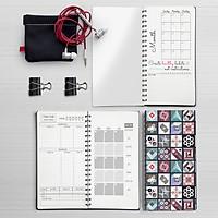 Sổ tay planner lò xo 60 trang MIX TỔNG HỢP All-in-one - Kế hoạch / Thu chi / Sức khỏe