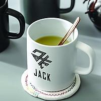Cốc ly sứ trắng in logo Jack K-ICM