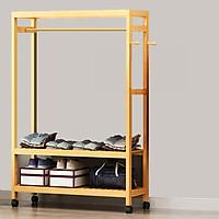 Tủ quần áo khung gỗ tre cao cấp rộng 100CM RE0268