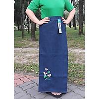 Váy Chống Nắng Jeans Thêu Hoa Cánh Bướm, Có Nút Bấm Kim Loại, Lưng Thun Co Dãn, Chống Nắng Cực Tốt, Hàng Chất Lượng
