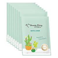 Hộp 8 Miếng My Beauty Diary - Mặt nạ xương rồng Catus - Hàng Nội Địa Đài Loan