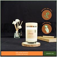 Nến thơm hương táo quế thiên nhiên cao cấp - Bấc gỗ, không khói - Sáp nành [Apple Cinnamon Candle]