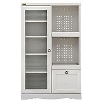 Tủ Bếp 6275651  Bistro Japan (75 x 39.5 x 120 cm) - Trắng Có Vân