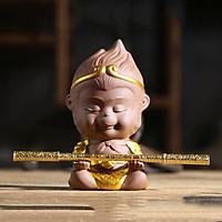 Tượng Chibi Mỹ Hầu Vương 11.5cm kèm gậy - mẫu 01 màu nâu dang tay