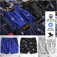 Quần đùi nam thun cotton mặc ngủ thoải mái, chất lượng loại quần đùi nam mặc ngủ họa tiết (Giao màu ngẫu nhiên)