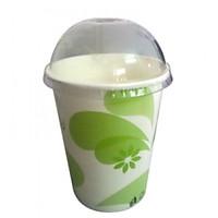 Lốc 50 cốc giấy có nắp cao cấp dùng 1 lần in hoa xanh loại 14oz (420ml)