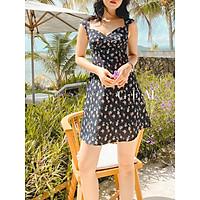 Đầm xanh đen hoa nhí Vivian Dress Gem Clothing SP006172