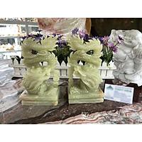 Cặp Rồng đứng phong thủy đá ngọc onyx - Cao 20 cm