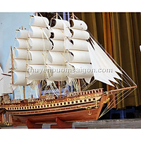 Thuyền buồm gỗ phong thủy trang trí France II Limited Edition dài 120cm
