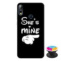 Ốp lưng điện thoại Asus Zenfone Max Pro M2 hình She'S Mine tặng kèm giá đỡ điện thoại iCase xinh xắn - Hàng chính hãng