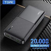 Sạc Dự Phòng TOPK I2009/I2009Q 20000MAh Sạc Nhanh PD QC3.0 Cho iPhone HUAWEi Samsung - Hàng nhập khẩu