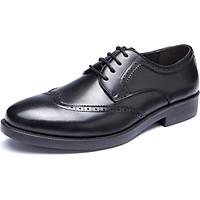 Aokang Men's Business Dress Shoes Men's Block Shoes Lace Low Shoes 173211053 Black 43 Yards