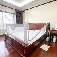Thanh chắn giường Umoo bản nâng cấp 2021, thanh chặn giường dạng trượt 1 bên và ngồi không bị kênh đệm  (Giá 1 thanh)