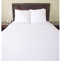 Bộ chăn ga coton khách sạn trắng trơn