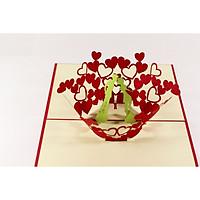 Thiệp 3D - Nụ hôn tình yêu - NCN37