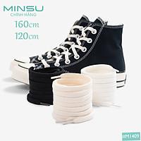 Dây Giày Classic 1970s Cổ Cao và Thấp Chính Hãng MINSU M1409 Chuyên dùng Cho Giày Thể Thao Sneakers Converse, rick owen Shoelaces
