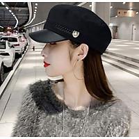 Mũ nồi nỉ có vành thời trang nón bê rê nữ phong cách