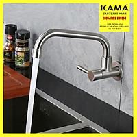 Vòi rửa chén bát gắn tường thân thấp Inox 304 KAMA VT03LD - HÀNG CHÍNH HÃNG
