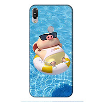 Ốp lưng điện thoại Asus Zenfone Max Pro M1 hình Heo Con Tắm Biển