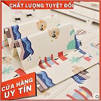 Thảm xốp phủ silicon, 1,8x2m. Thảm nằm chơi cho bé. Thảm Hàn Quốc