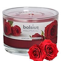 Ly nến thơm tinh dầu Bolsius Velvet Rose 155g QT024880 - hoa hồng nhung