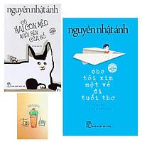Combo Cho Tôi Xin Một Vé Đi Tuổi Thơ và Có Hai Con Mèo Ngồi Bên Cửa Sổ ( Tặng Kèm Sổ Tay)