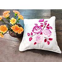 Vỏ gối tựa lưng thêu tay hoa hồng Sapa TMD104065