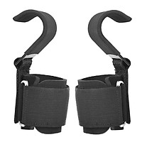 Heavy Duty Weight Lifting Hooks Wrist Support Strap Power Gripper Chin Up