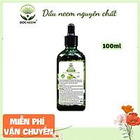 Dầu neem hữu cơ DOCNEEM phòng trị sâu bệnh hoa hồng, phong lan, cây cảnh, dầu neem oil nguyên chất ép lạnh 100ml