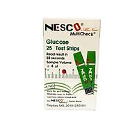 Hộp 25 Que thử Đường Huyết Glucose Dùng cho Máy 3 trong 1 Nesco Nw - 01