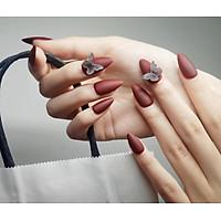 Móng tay giả nail thời trang 3D - Bộ 24 móng