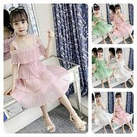 VL80Size110-160 (15-33kg)Đầm cho bé gái, kiểu dáng công chúaThời trang trẻ Em hàng quảng châu