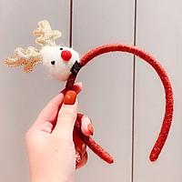 Cài tóc Noel bọc nhung phối sừng tuần lộc xinh yêu lung linh cho cả nhà  chụp ảnh mùa Giáng sinh – NOEL009