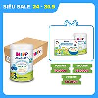 Thùng 6 lon sữa bột dinh dưỡng công thức HiPP 3 Organic Combiotic chất lượng hữu cơ tăng cường sức khoẻ hệ miễn dịch, bổ sung Canxi và vitamin D dành cho trẻ trên 12 tháng tuổi (6 lon x 800g)