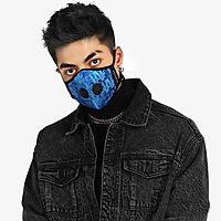 Khẩu trang thời trang cao cấp Soteria Rap ST181 - Khẩu trang vải than hoạt tính [size S,M,L] Van đen - Size L