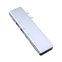 Bộ Chuyển Đổi Tc14 Hub USB Loại C 7 Trong 1 HD Cho 2 USB 3.0 / TF / Thẻ Nhớ / Pd 87w
