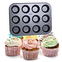 Khuôn chống dính nướng bánh cupcake 12 ô to