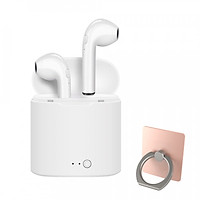 Tai nghe Bluetooth i7s tai nghe không dây 2 tai kiểu dáng airpods - tặng giá đỡ điện thoại Iring